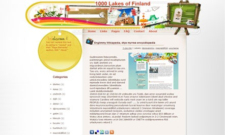 1000-Lakes-of-Finland-Blogger-Template