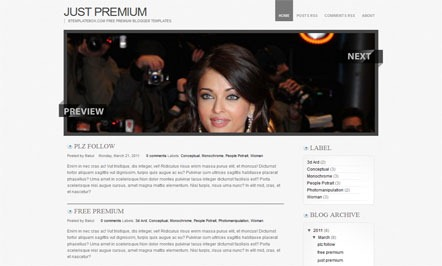 Blogger Templates Just Premium