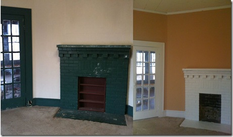 Dining Room Fireplace Before and After