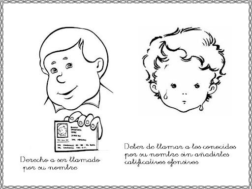 DIBUJOS DE DERECHOS HUMANOS PARA IMPRIMIR Y PINTAR