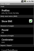 Screenshot of Diary Weight Full