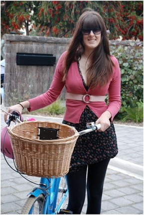 Tara with her Electra Amsterdam bicycle