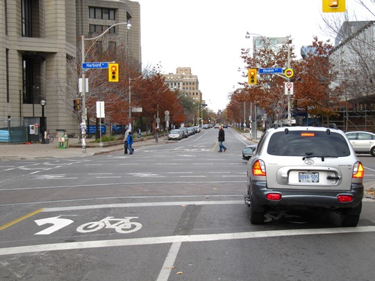Toronto bike box infraction
