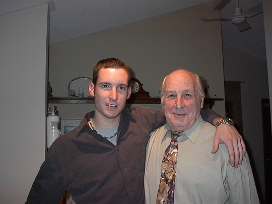 James & Opa - May 2002