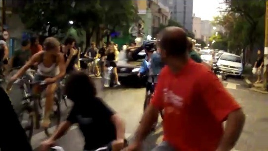 Critical Mass Brazil trampling