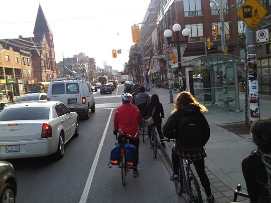 Bicycle Rush hour in Toronto