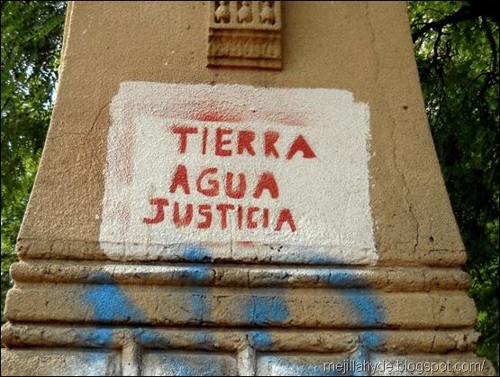 Tierra agua justicia