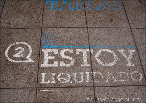 Estoy liquidado - Graffiti, urban art, Parque Rivadavia, Buenos Aires