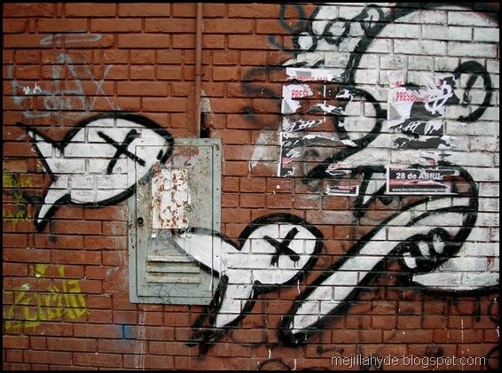 Ictiófagos - Arte urbano, Parque Rivadavia, Buenos Aires, Graffiti