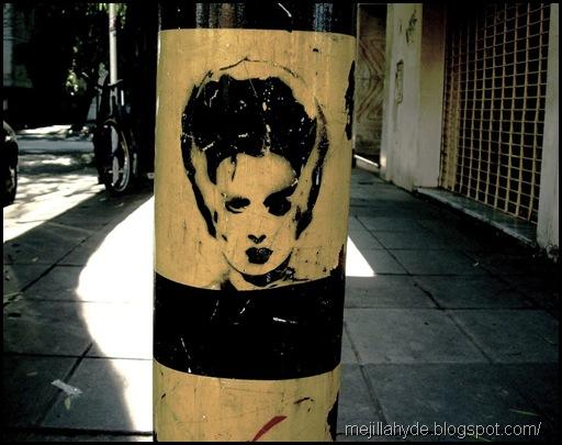 Rostro, graffiti, arte urbano