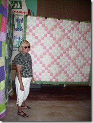 Debbie A with Ashley's quilt