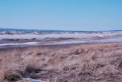 Frozen shores of Lake Michigan