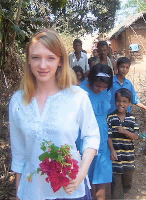 Shelley's daughter, in India
