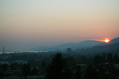 Wide View of Sunset from North Vancouver