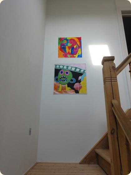 Et skønt syn lige der på trappen