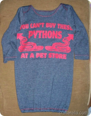 pythons baby gown