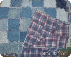 quilt - denim plaid