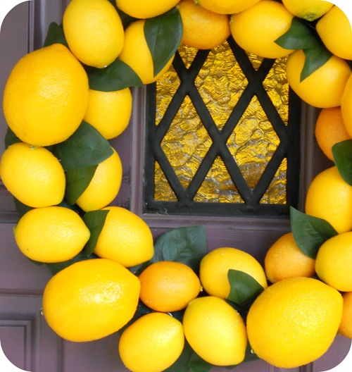 Lemon Wreath Closeup