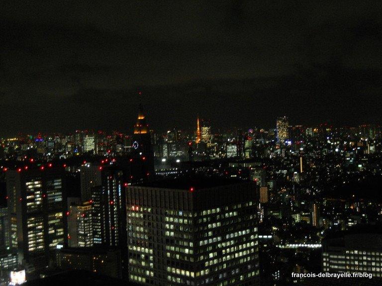 Vue sur Tokyo depuis la Mairie