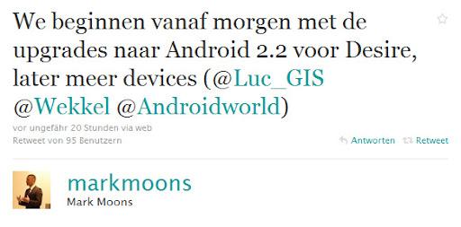 Tweet von Mark Moons auf Holländisch