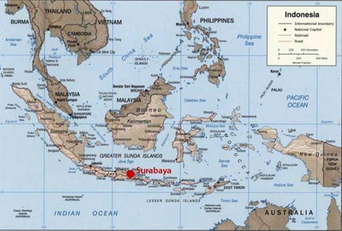 خريطة سورابايا