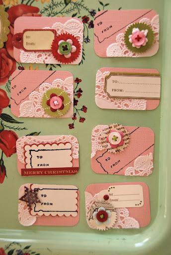 Living the Swell Life: dec. daily {no. 15} handmade tags