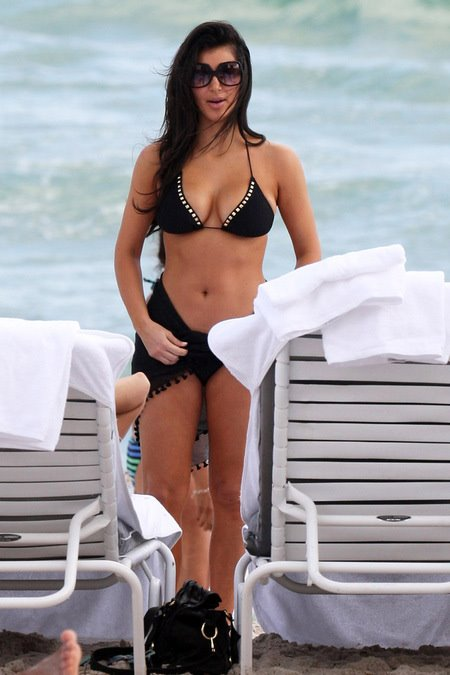kim kardashian black bikini