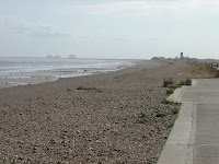 Approaching Littlestone, Dungeness Power Station in distance