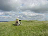 Red Lion Pond trig point, looking to Beddingham Hill Transmitter