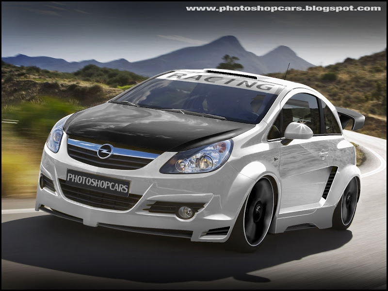 Novo Opel Corsa 2010 tuning, rebaixado e virtual tuning