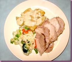 roast on plate
