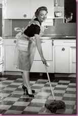 woman cleaning 1955