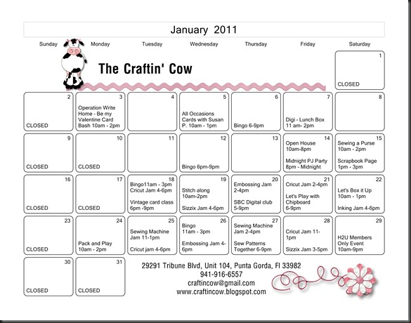 Craftin Cow CalendarJanuary - Page 001