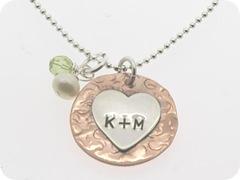 lauren nicole gifts heart necklace