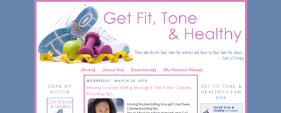 get fit healthy and tone