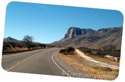 Driving through Guadalupe NP