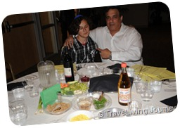 My son and I at the Sedder table