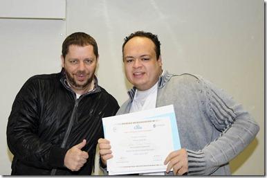 Recebendo o Certificado do RfE