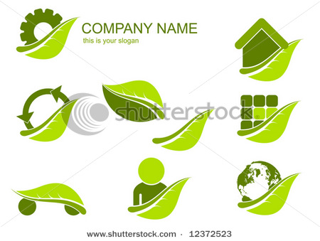 stock vector ecology logo set 12372523 Romania   explore the Carpathian garden