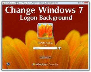change Window 7 logon Background 2