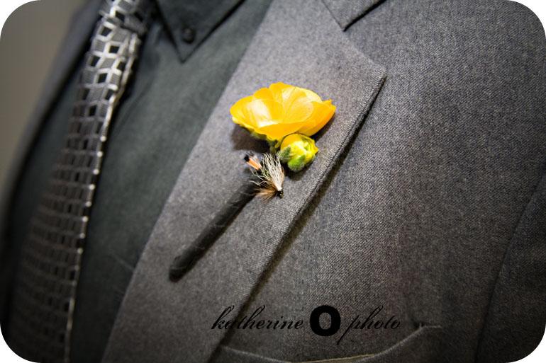 Kyla & Josh's Grey & Yellow DIY Wedding | katherineophoto