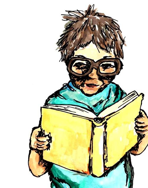 Læsende dreng