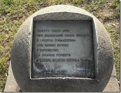 milano - homenagem a Chico Mendes
