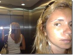 No elevador, indo pro salão