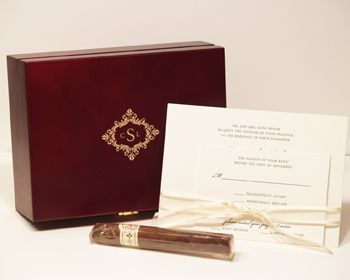 New product cigar box invitations gourmet invitations for Cigar box wedding invitations