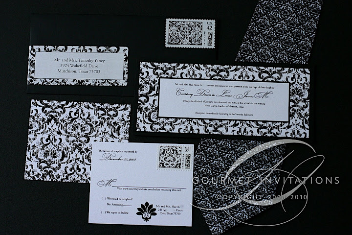 courtney s shabby chic damask invitations gourmet invitations