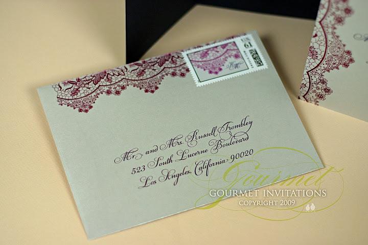 Vintage Lace Invitations via TheELD.com