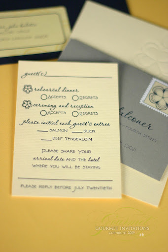 Gourmet Invitations letterpress