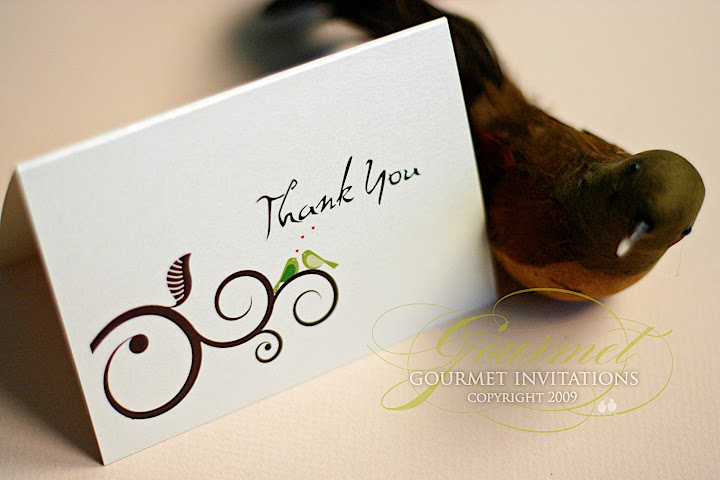 Thank you card Gourmet Invitations