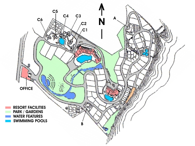 Plan map of Hin Suay Nam Sai private ocean side resort estate